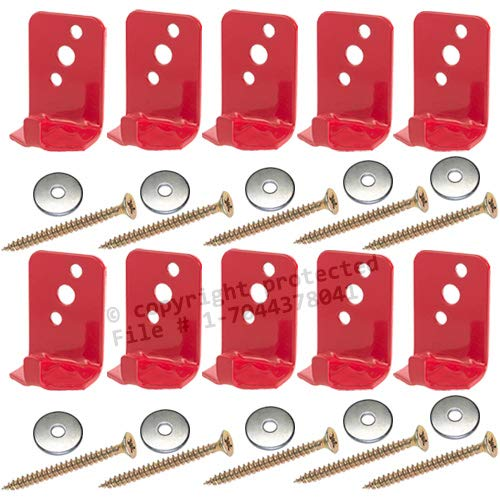 ((Lot of 10) Fire Extinguisher Bracket, Wall Hook, Mount, Hanger, Universal for 5 Lb. Extinguishers NO SCREWS or WASHERS)