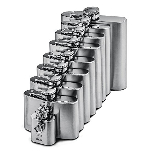 Stainless Steel 10oz Alcohol Flask - 9