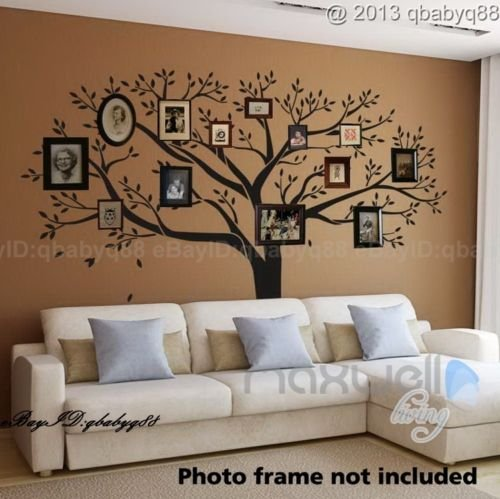 LUCKKYY®Giant Family Photo Tree Wall Decor Wall Sticker Vinyl Art Home Decals  Room Decor Mural Branch Wall Decal Stickers Living Room Bed Baby Room: ...