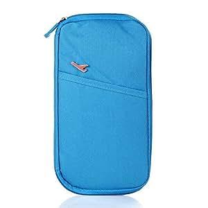 Annong Multi Purpose Travel Passport Holder Travel Wallet Handbag ID Credit Card Case (Blue)