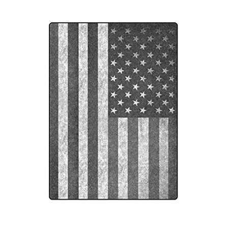4.5 ft x 6.5 ft = 29 square ft Yoga Mat Doormat Waterproof Plush Living Room Bedroom Kitchen Indoor Outdoor Black Usa American Flag by Doormat