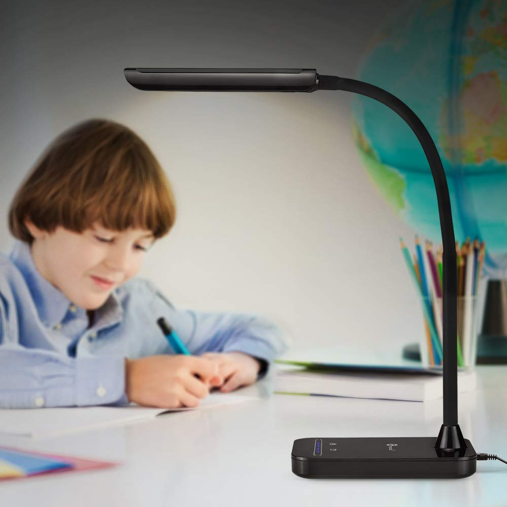 TaoTronics LED Desk Lamp, Flexible Gooseneck Table Lamp, 5 Color Temperatures with 7 Brightness Levels, Touch Control, Memory Function, 7W, Official Member of Philips EnabLED Licensing Program by TaoTronics (Image #8)