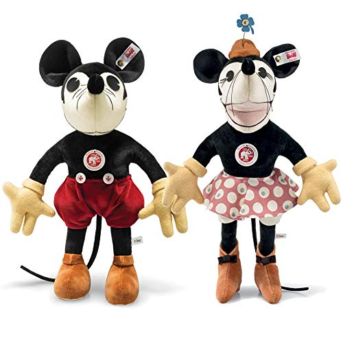 - Steiff (Set) Disney Vintage Mickey & Minnie Mouse Plushes - Limited Editions