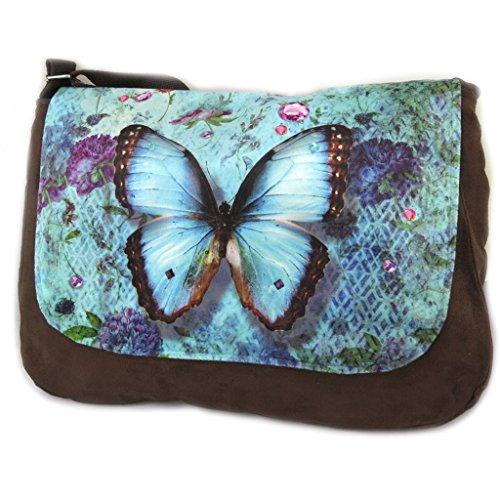 Hobo Papillon Imaginaireblu marrone - 36x28x7 cm. Ver Espacio Libre 2018 El Nuevo Precio Barato 6PwTjLG