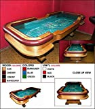 Oak Casino Craps Table with Removable Padded Armrest