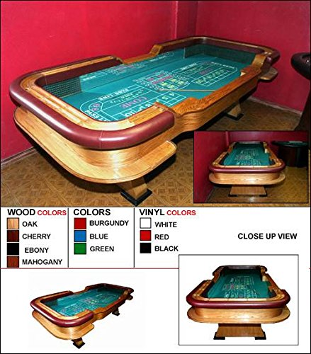 Oak-Casino-Craps-Table-with-Removable-Padded-Armrest