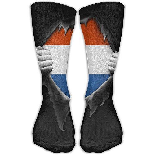Netherlands Flag Proud Dutch Man Woman Dress Socks Crazy Yoga Comfort Moisture Wicking Non Slip Sock Shoe Size - Usps To Netherlands Shipping