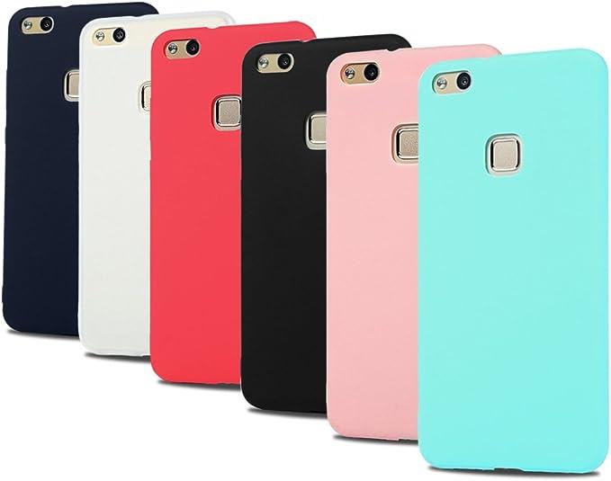 6x Cover Huawei P10 Lite, CaseLover Morbido TPU Silicone Satinate Opaco Custodia per Huawei P10 Lite Ultra Sottile Protettiva Copertura Antiscivolo ...