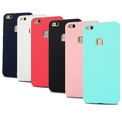 Caselover 6X Funda Huawei P10 Lite, Suave TPU Silicona Carcasa para Huawei P10 Lite Ultra Delgado Flexible Goma Mate Opaco Protectiva Caso Case Cover ...