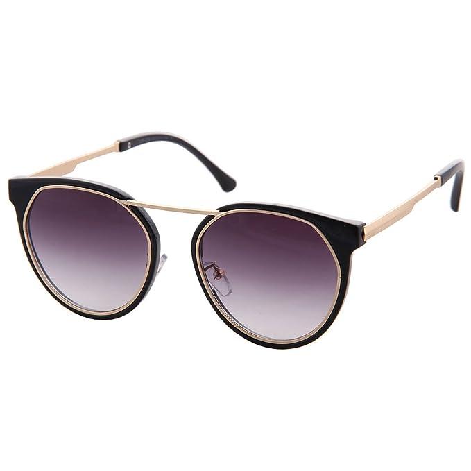 OGOBVCK Las gafas de sol gafas de sol espejo oval Cateye no ...