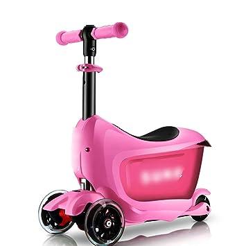 3d8d3678d JianMeiHome Kick Scooter Scooter para niños de 2-6 años Puede Llevar un  Scooter Scooter Plegable de Tres Ruedas con Maleta (Color : Pink):  Amazon.es: Hogar