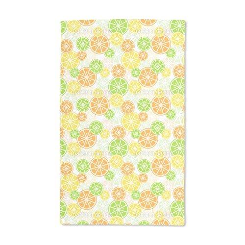 Rainbow Citrus Vitamins (Extra Soft Microfiber Hand Towel - Citrus Zing by Tanya Laporte - 15.5