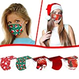 Renzhe 50PC Disposable Face_Masks Christmas Printed