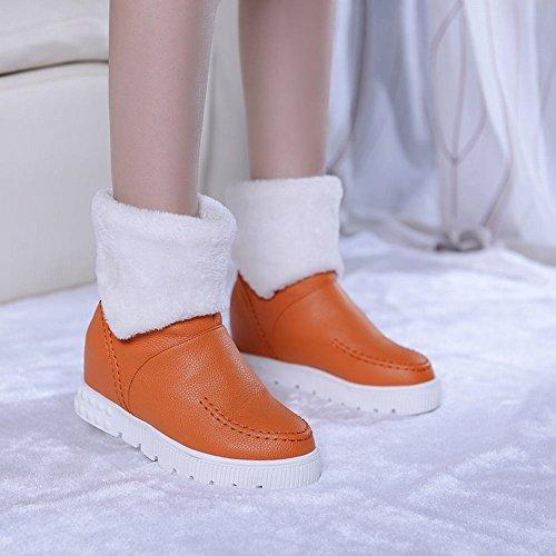 Latasa Mode Féminine Plate-forme À Lintérieur Talon Compensé Courte Hiver Bottes De Neige Orange