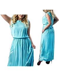 Eloise Isabel Fashion dress mulheres moda arco cinto de alta dividir plissada longa dress maxi vestidos de festa à noite soltas