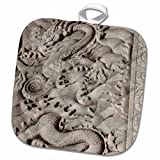 3dRose Danita Delimont - Cindy Hopkins - Sculptures - China, Beijing, Forbidden City. Emperors palace, marble dragon carving - 8x8 Potholder (phl_187563_1)