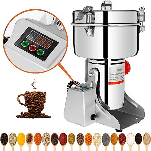 Marada 2000g Electric Mill Grinder Stainless Steel 110V Pulverizer Grinding Machine for Kitchen Herb Spice Pepper Coffee Powder Grinder (2000g)