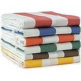 Tenda da sole a strisce con anelli 290 x 290 cm per esterno colore VERDE