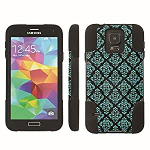 [ArmorXtreme] Hybrid Armor View-Stand Design Image Protect Case (Vintage Teal Black) for Samsung Galaxy S5