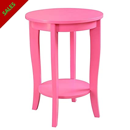 Bedside End Table Pink For Small Spaces Classic Design For Living Room ,  Bedroom, Nursery