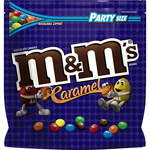 M&M'S Caramel Chocolate Candy Party Size 38-Ounce -