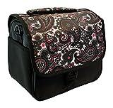 Designer Black Paisley DSLR Camera Bag