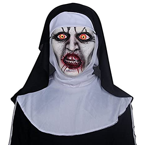 Monja terrorista Scary Zombie Bloody cráneo máscara Traje de ...