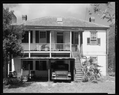 Photo: Slater House, balconies, automobiles, Saint Augustine, St Johns County, Florida, 1936 . - Map Augustine Shopping St