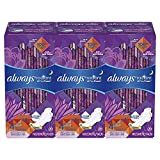 Always Radiant Feminine Pads for Women, Size 4, Overnight Absorbency, With Wings, Scented, 20 Count, Pack of 3 (Packaging May Vary)
