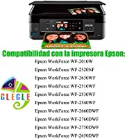 GLEGLE 16XL Cartuchos Tinta 15 Multipack Reemplazo para Compatible con EPSON Workforce WF-2630WF WF-2510WF WF-2750DWF WF-2530WF WF-2540WF WF-2760DWF ...