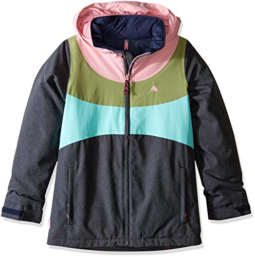 Burton Girls' Hart Jacket, Medium, Denim/Sea Pink/Mosstone/Aruba, Large ()