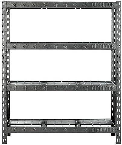 Gladiator 4-Shelf 60 in. W x 72 in. H x 18 in. D Welded Steel Garage Shelving Unit