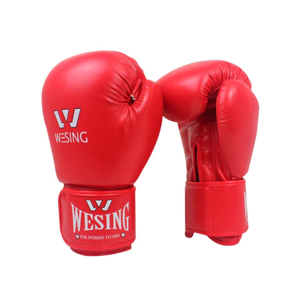 Children's Boxing Gloves, Children's Sanda Taekwondo Professional Boxing Gloves, Youth Sandbag Gloves, (6-15 Years Old) (Color : Red) by Guyuexuan (Image #1)