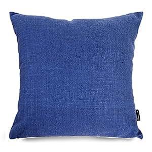 Plain Linen Throw Pillow Covers : Amazon.com: Phantoscope Linen Decorative Throw Pillow Case Cushion Cover Plain Blue 1 Piece ...