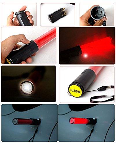 LED SAFETY Traffic signal FlashLights Flashing FLASHBACK RED LIGHT BATON Magnet by Sporoad (Image #3)