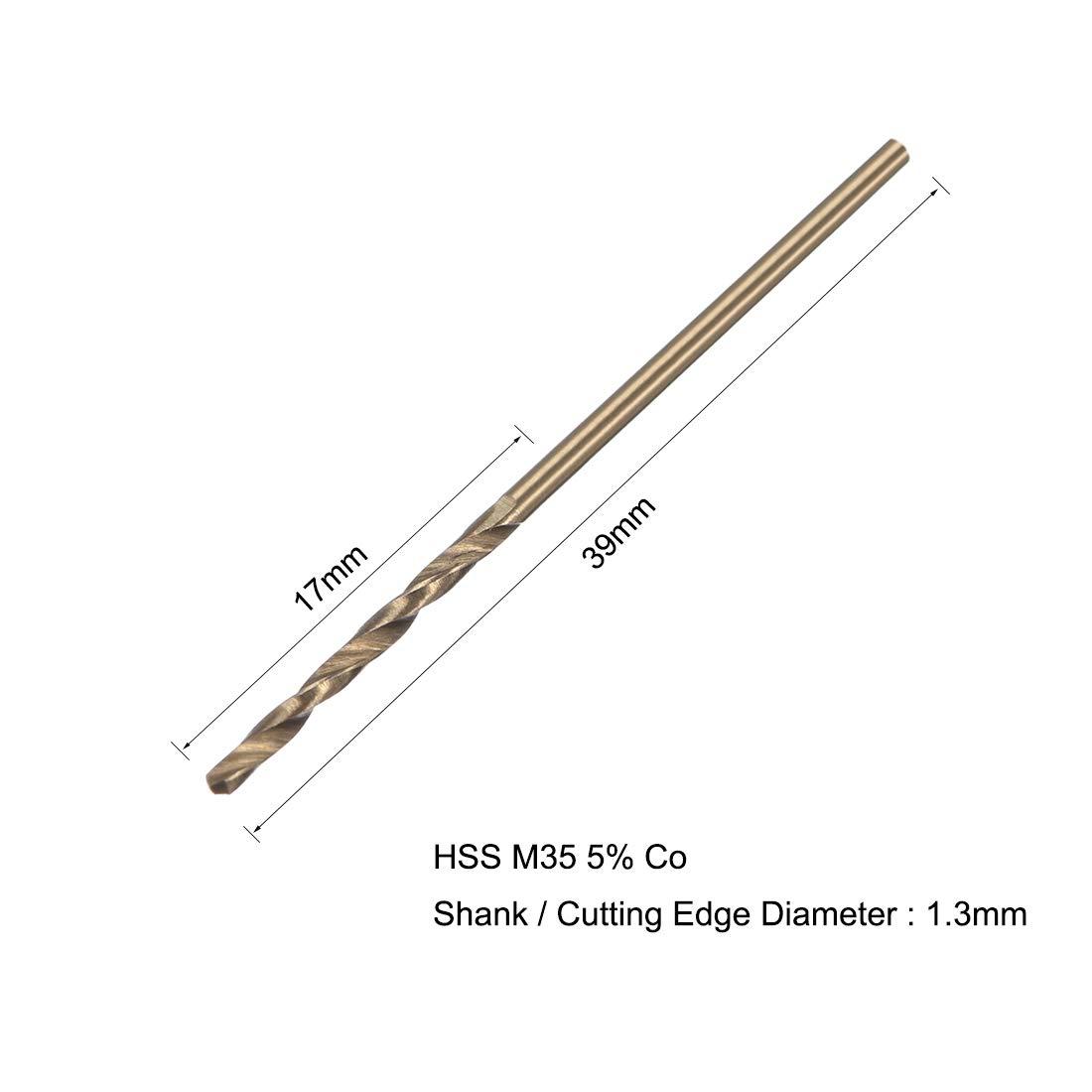 uxcell 2.5mm Dia Split Point HSS Cobalt Metric Twist Drill Bit Drilling Tool 10pcs