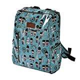 LABANCA Unisex Canvas Fashion Personalized Printing Daypack Travel Backpack Blue
