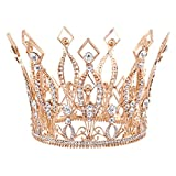 Stuffwholesale 4inch Height Floral Full Crown Rhinestone Crystal Tiara Bridal Wedding Hair Accessory