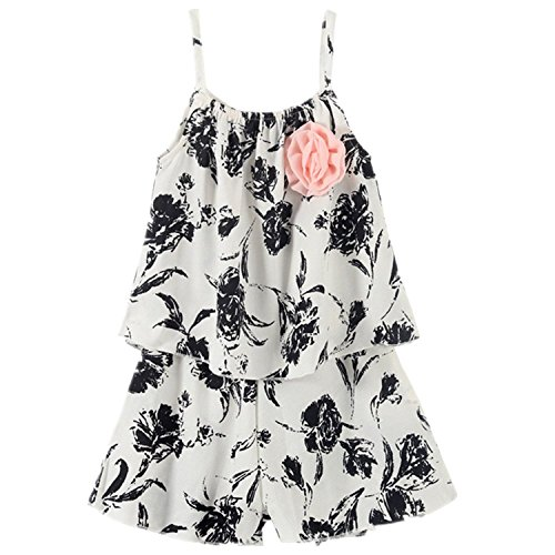 Jastore® 2 Pieces Little Baby Girls Cute Flower Clothing Pants Set