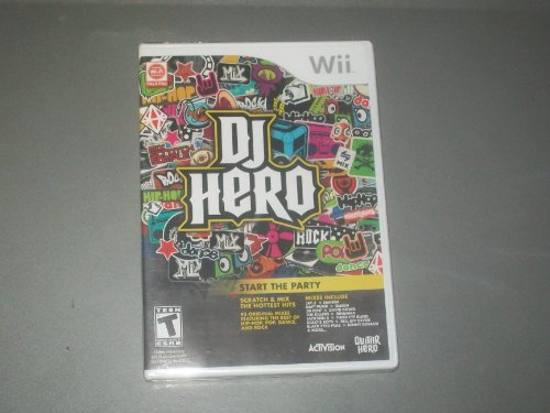 WII ACTIVISION DJ HERO START THE PARTY VIDEO GAME