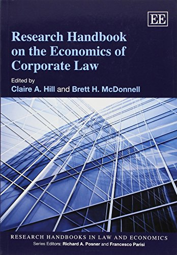 Research Handbook on the Economics of Corporate Law (Research Handbooks in Law and Economics Series)