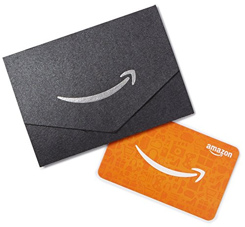 Amazon.ca Gift Card for Any Amount in a Black and Silver Mini Envelope