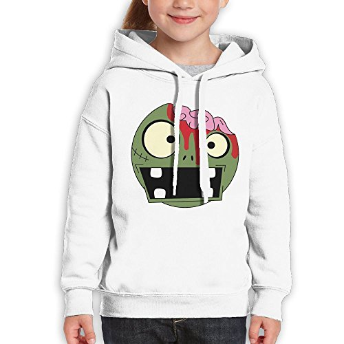MingDe YY Teenagers Apocalyptic Zombie Face Teen Hoodies White Pullover Hooded Youngsters Sweatshirt With Boys Girls (Nyu Basketball Rug)