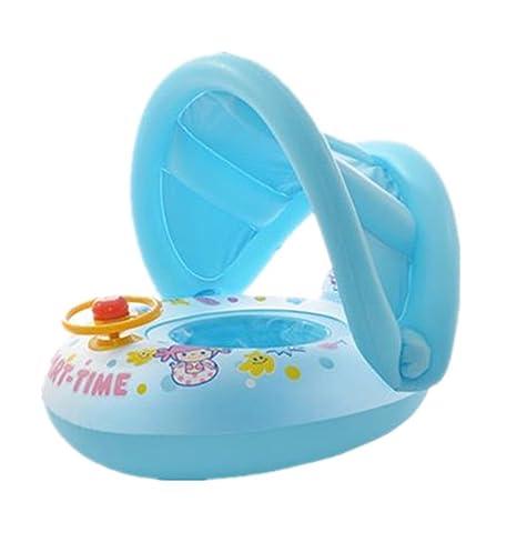 SMS Anillo Inflable De La Natación Del Bebé Con La Sombrilla Ajustable De Baño / Piscina