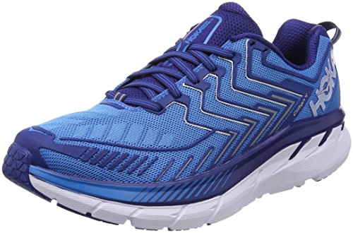 HOKA ONE ONE Men's Clifton 4 Running Shoe Diva Blue/True Blue Size 10 M US