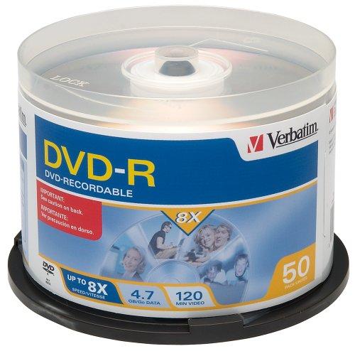 Verbatim 8x 4.7 GB DVD-R Spindle