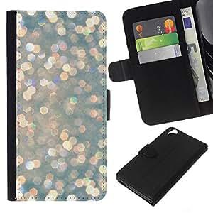 KLONGSHOP // Tirón de la caja Cartera de cuero con ranuras para tarjetas - Los diamantes de la nieve invernal al sol - HTC Desire 820 //