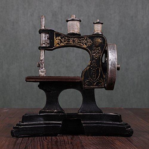 YYY-Muebles para el hogar rústico hierro forjado Queen tamaño máquina de coser modelo ropa tienda ornamentos decorativos , picture color , 18.5x9x19: ...