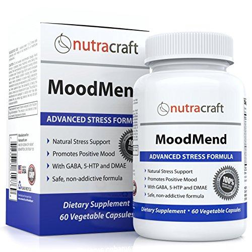 # 1 naturelles stress et l'anxiété de secours Supplément Pills - Remède de fines herbes pour l'anxiété et la dépression, le stress de secours et amélioration de l'humeur Avec Ashwagandha, 5-HTP, le GABA, DMAE et la camomille - 60 Gélules Végétales - MoodM