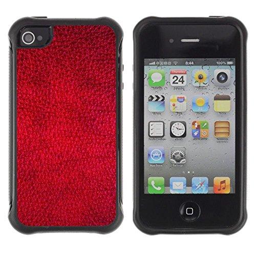 iPhone 4 / iPhone 4S , Red Wallpaper Design Texture Textile Art